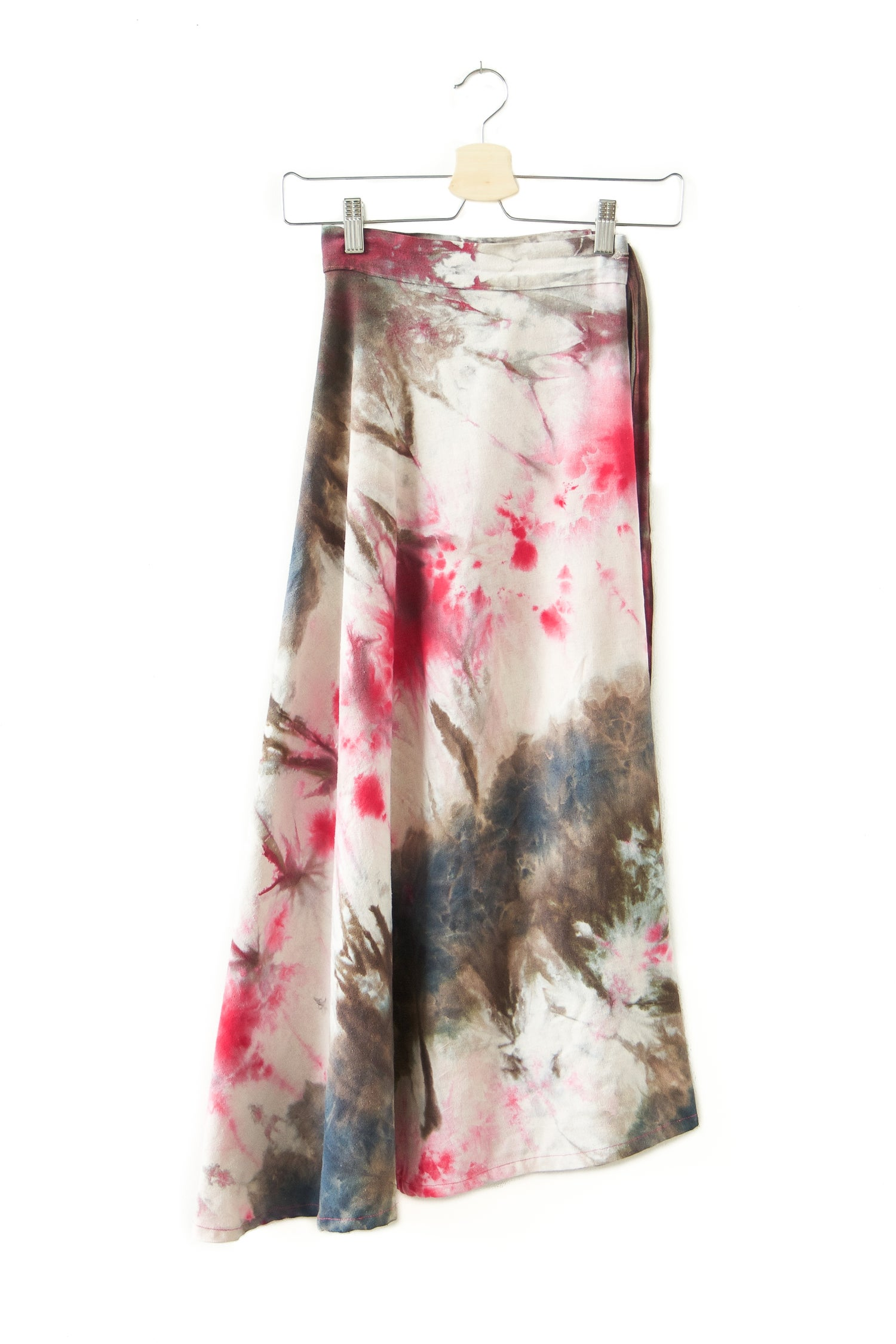 Image of Raw Silk Wrap Skirt