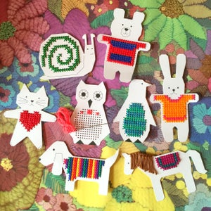 Image of Card Embroidery Animals