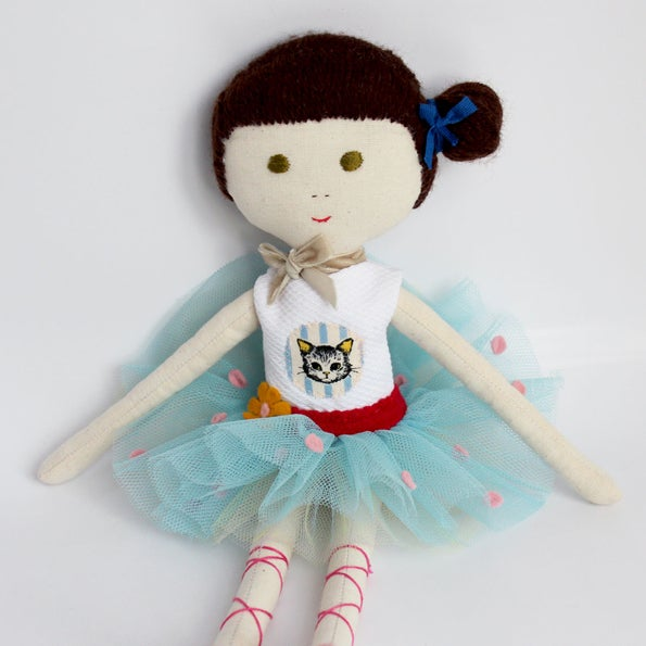 Image of Doll Matilde - Ballerina with a cat