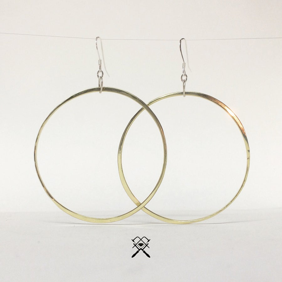 Image of Forged Hoop Earrings