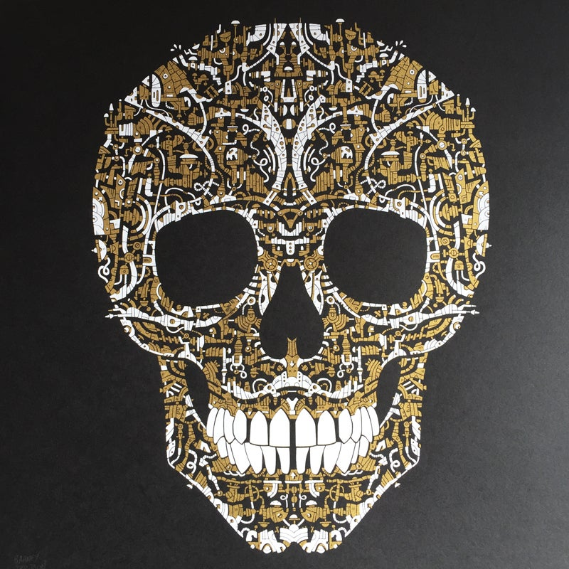 Image of Limited Edition Skull Screenprint