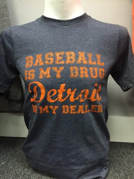 Image of Baseball Is My Drug Unisex Tee