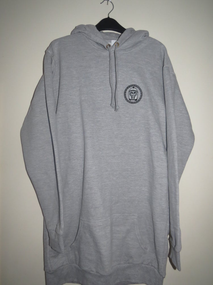 Image of Ares Signature Grey Longline Hoodie
