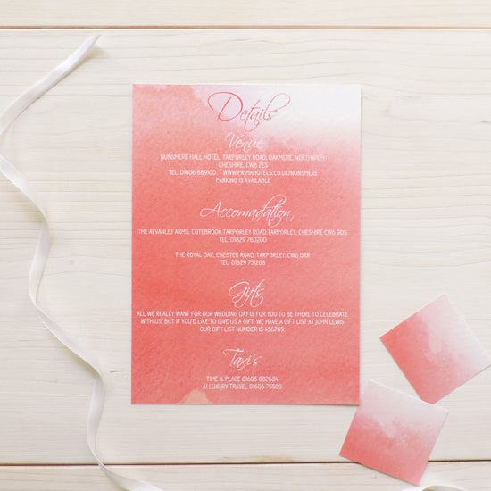 Image of Love Haze Wedding Information Card