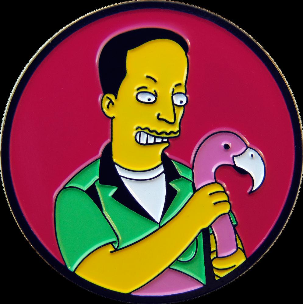 Image of PINK FLAMINGOS PIN