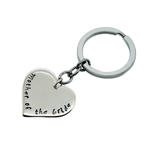 Image of Personalised Love Heart Sterling Silver Key Chain