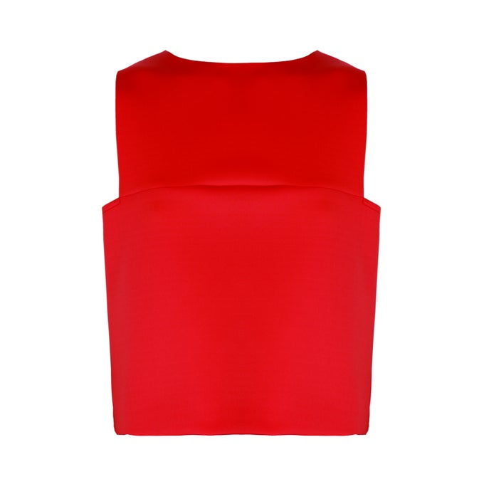 Image of Belly Top| Red