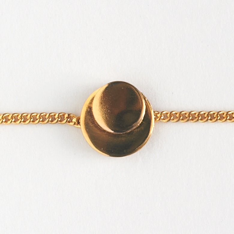 Image of Collection 1920's - Gourmette Eclipse / Eclipse chain bracelet