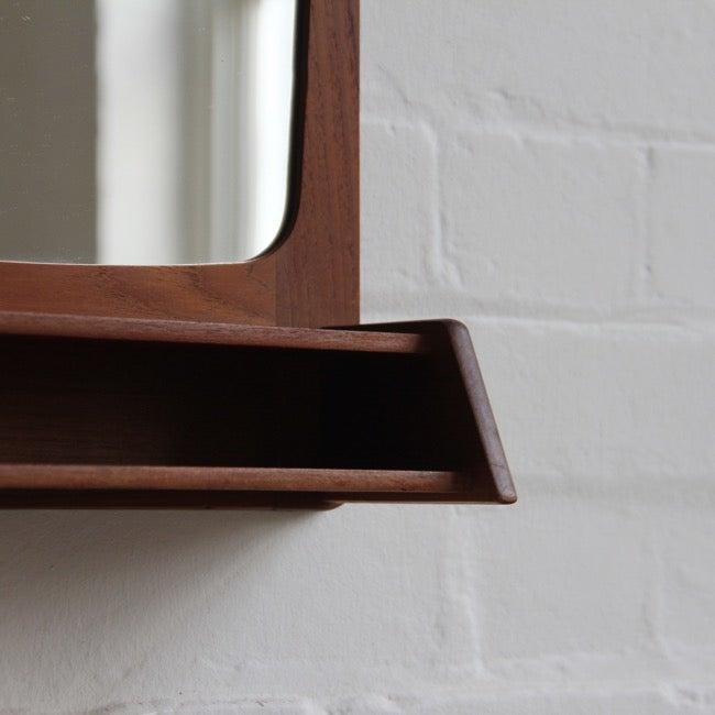 Image of Danish mirror with shelf