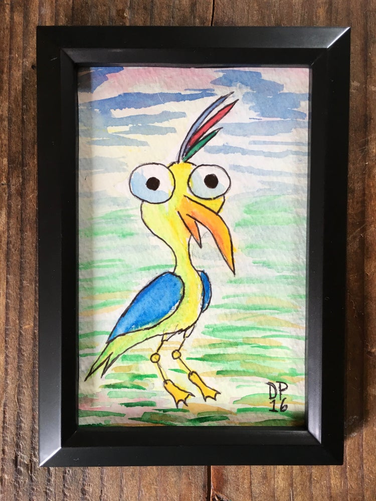 Image of Bird #3- One of a kind original watercolor painting by Dan P.