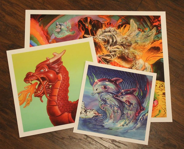 Image of Bundle of three prints // Dragon's Breath, Paradise Lost, Dolphin Crest