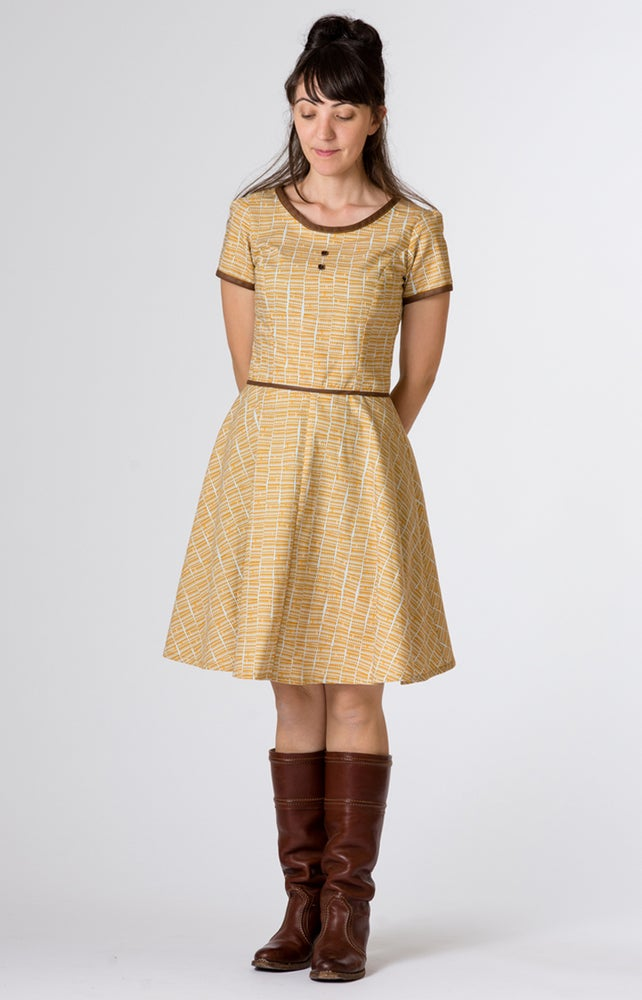Image of Coco Dress: Mustard Triangle