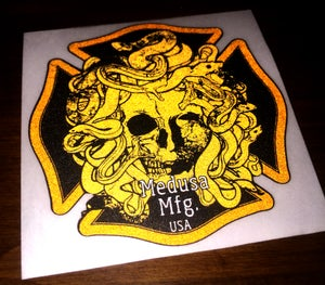Image of Medusa Mfg. Helmet Sticker