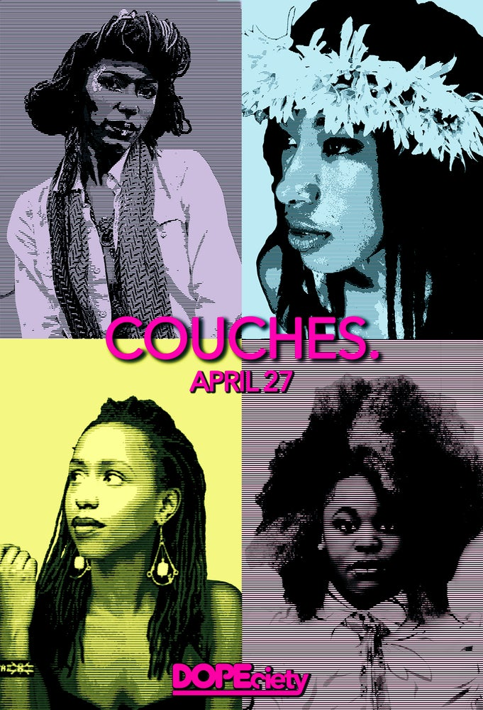 Image of COUCHES. ft. Tank Ball, Charm Taylor, Mykia Jovan, RQ Away+
