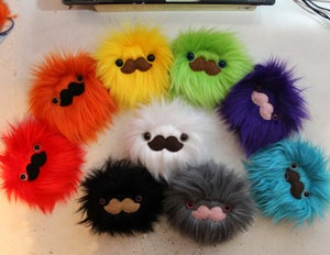 Image of Mustache Monster- Choose your color