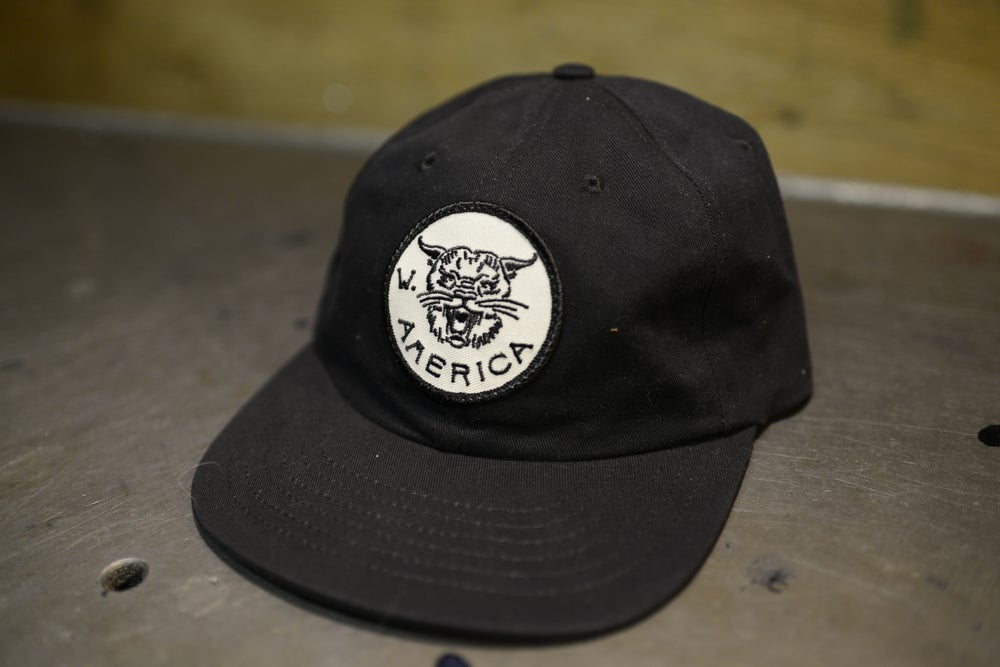 Image of W/A Black Bobcat Hat