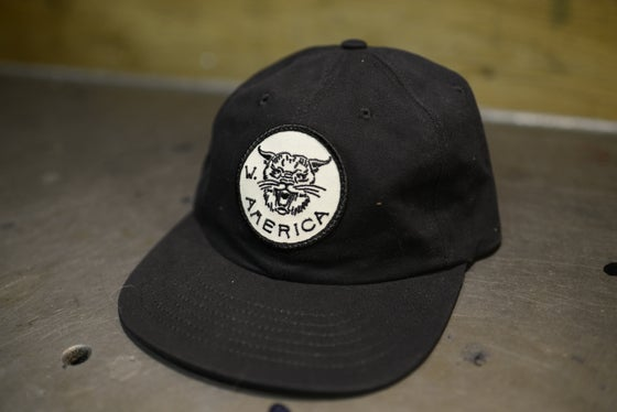 Image of W/A Black Bobcat Hat