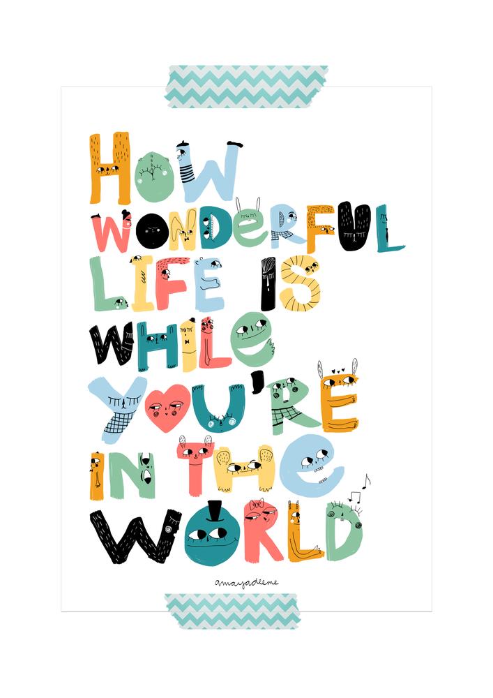 "Image of Lámina ""How wonderful life"""