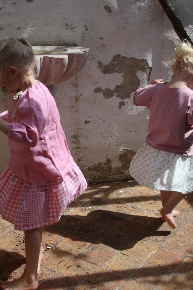 Image of Market Skirt-pink check