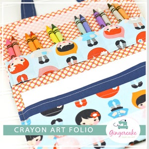 Image of Crayon Art Folio PDF Sewing Pattern