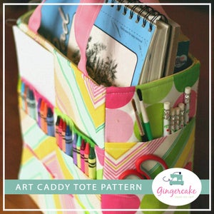 Image of Art Caddy Tote PDF Sewing Pattern