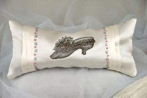 Image of Silk Boudoir Lavender Cushion: Shoe