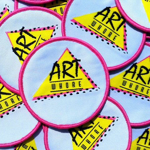 Image of PATCH - Art Whore Super Cute Logo