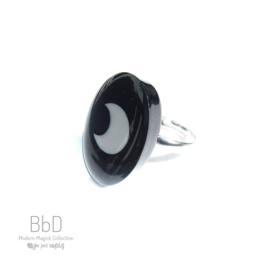 Image of Crescent Moon Resin Ring