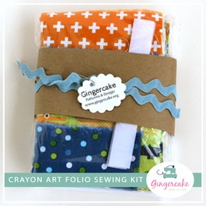 Image of DIY Crayon Art Folio Sewing Kits Crocodiles Version