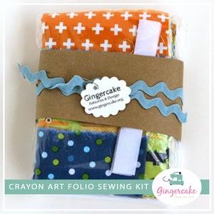 Image of DIY Crayon Art Folio Sewing Kits Crocodiles Version