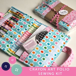 Image of DIY Crayon Art Folio Sewing Kits Flowers Version
