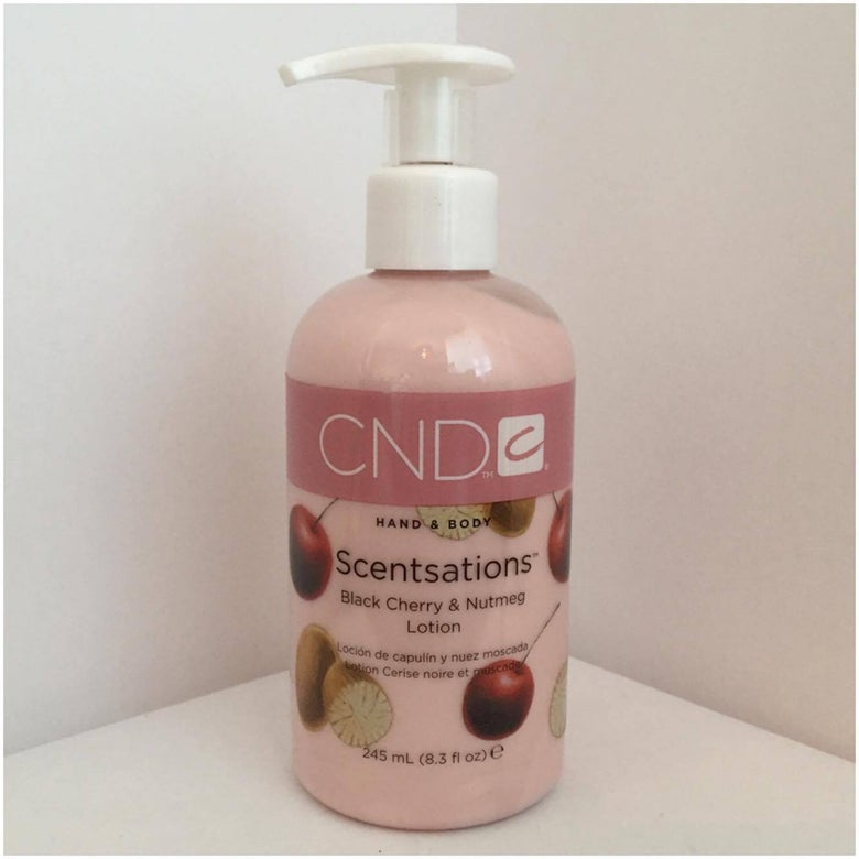 Image of CND Scentsations Hand and Body Lotion - Black Cherry and Nutmeg