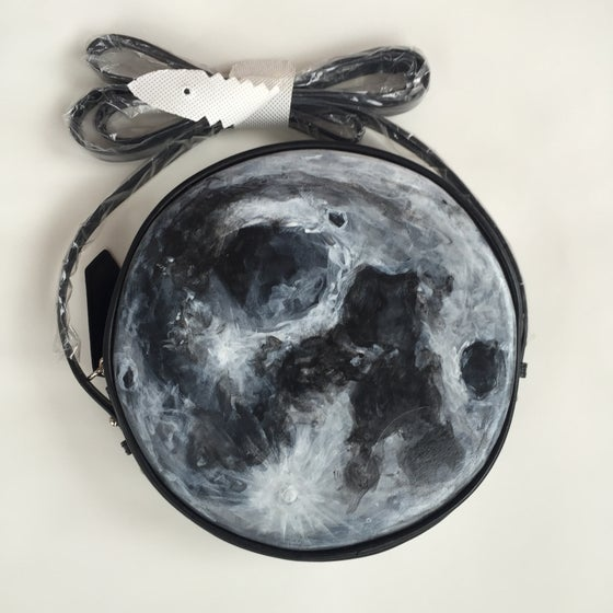 Image of Full Moon Purse - Hand Painted (Custom Pre-Order)