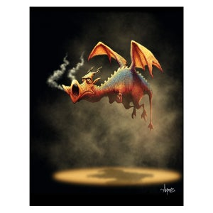 "Image of ""Steamed"" Dragon Print"
