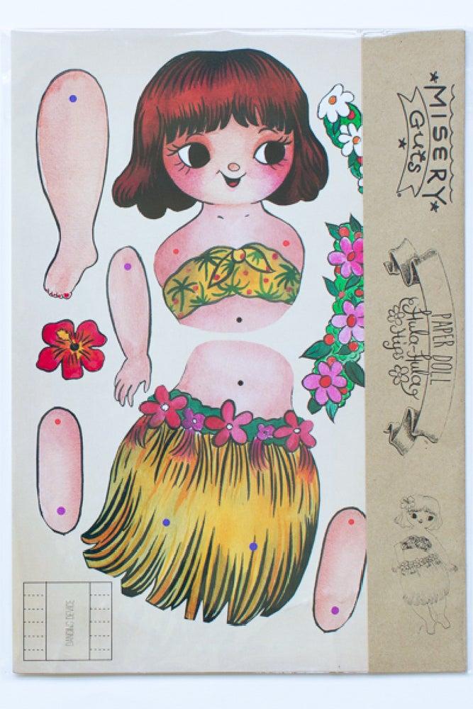 Image of Hula Hula Hips Paper Doll