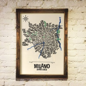 Image of MILANO - Typographic Map
