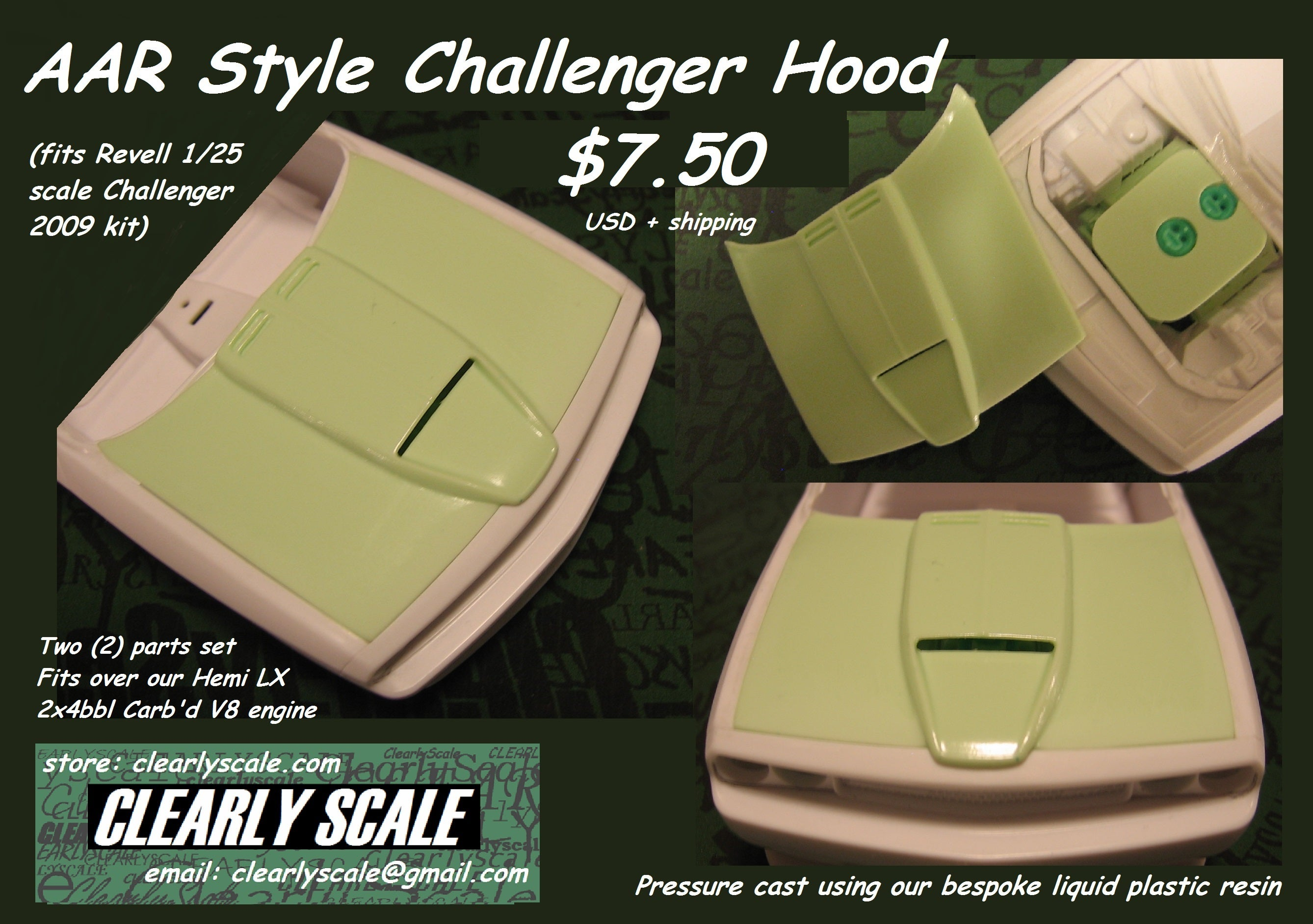 Clearly Scale  U2014 Challenger Aar Style Hood
