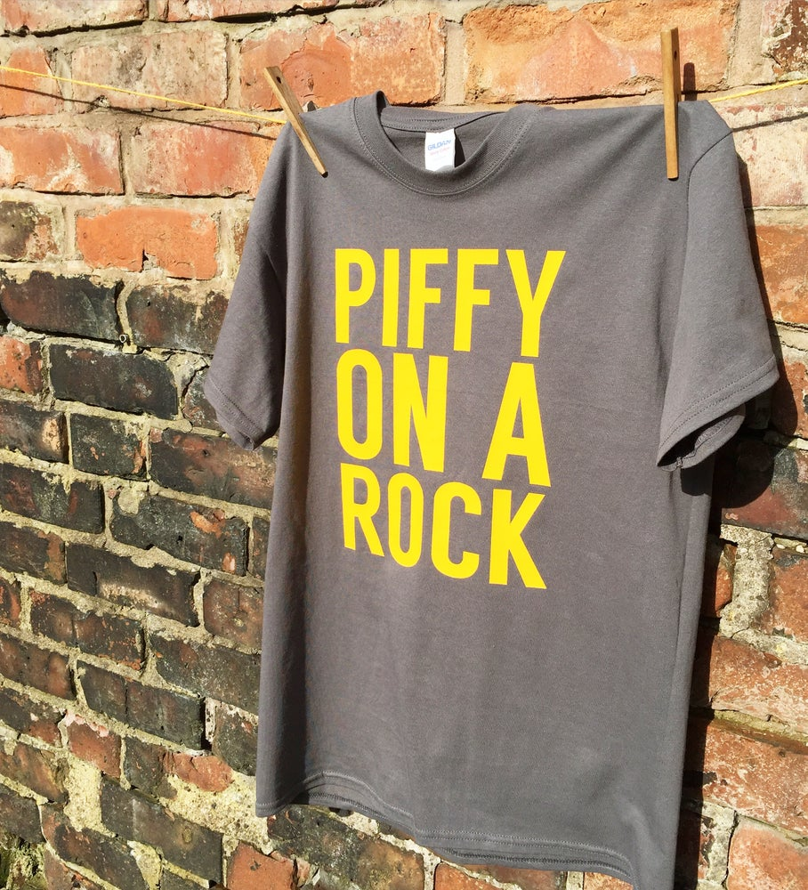 Image of Piffy On A Rock T-Shirt : FEMALE or MALE FIT
