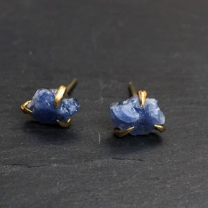 Image of Pair of claw studs with sapphire