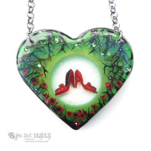 Image of Ruby Slippers Diorama Resin Pendant