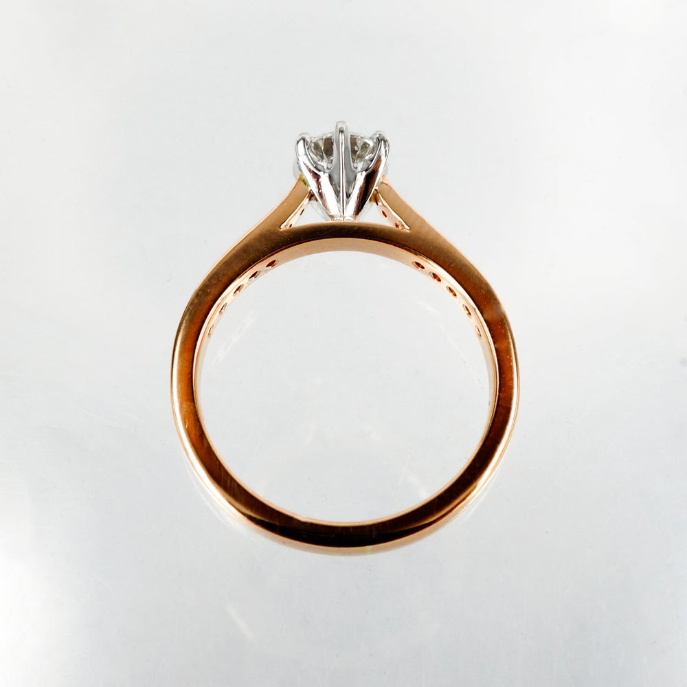 Image of 18ct Rose Gold Solitaire Diamond Ring