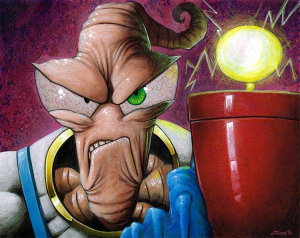 Image of 'Earthworm Jim' Art Print