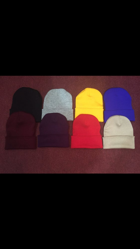 "Image of ""BUILT for the BATTLE"" Beanies *Email for custom colors if not listed*"
