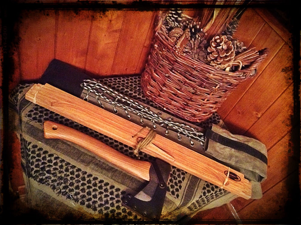 Image of Folding Wooden BuckSaw & Axe Canvas Bag