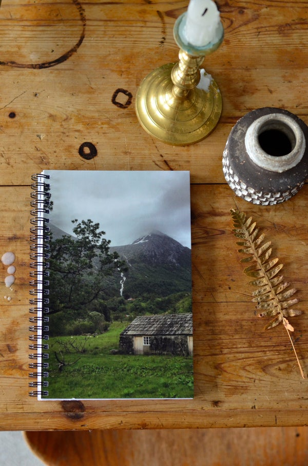 Image of Notebook, Stonehouse. A4 glossy front- matt pages, blank pages