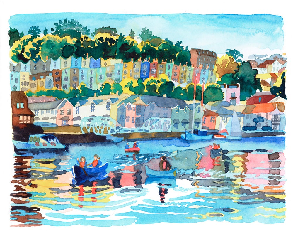 Image of Evening Canoes on Bristol Harbour