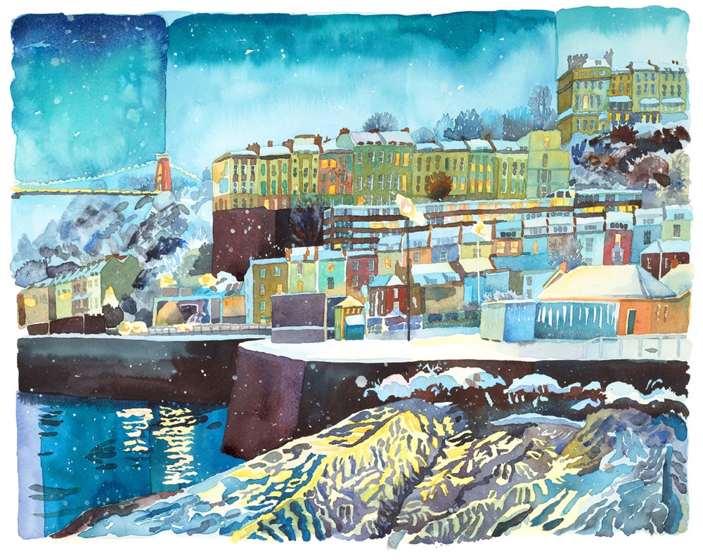 Image of Bristol in the Snow