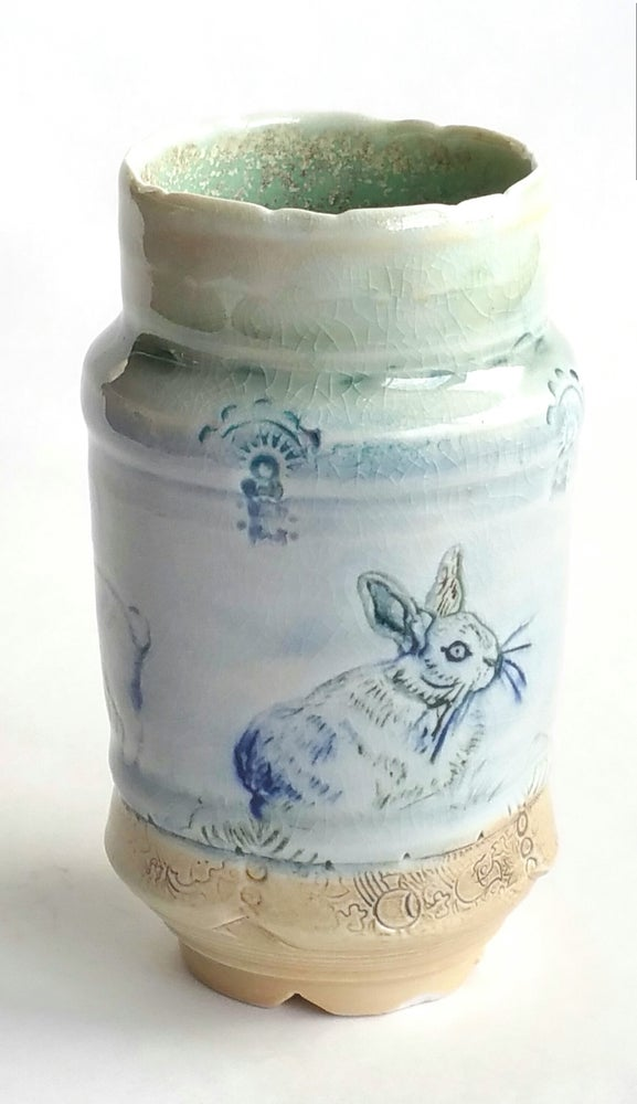 Image of Rabbit Sketch Study   Intaligio Woodfired Series