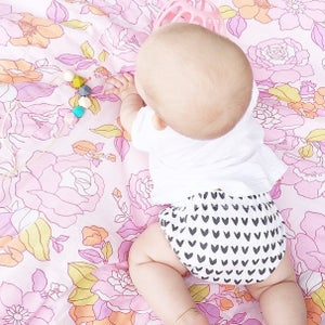 Image of Organic cotton black painted hearts bloomer