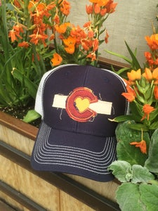 Image of Colorado Love Trucker Hat - Navy Blue